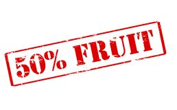 Fifty percent fruit. Rubber stamp with text fifty percent fruit inside,  illustration Royalty Free Stock Images