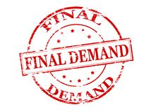 Final demand. Rubber stamp with text final demand inside,  illustration Stock Photos