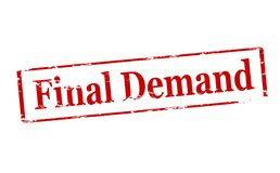 Final demand. Rubber stamp with text final demand inside,  illustration Royalty Free Stock Images