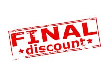 Final discount. Rubber stamp with text final discount inside,  illustration Royalty Free Stock Photography