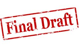 Final draft. Rubber stamp with text final draft inside,  illustration Royalty Free Stock Photo