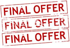 Final offer. Rubber stamp with text final offer inside,  illustration Royalty Free Stock Photos