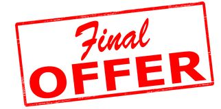 Final offer. Rubber stamp with text final offer inside,  illustration Royalty Free Stock Image