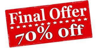 Final offer seventy percent off