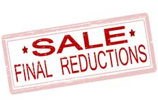 Final reduction. Rubber stamp with text final reductions inside,  illustration Stock Photos