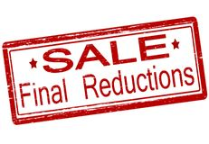 Final reductions. Rubber stamp with text final reductions inside,  illustration Royalty Free Stock Photo