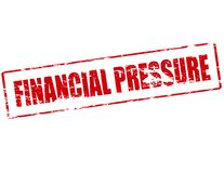 Financial pressure. Rubber stamp with text financial pressure inside,  illustration Stock Photo