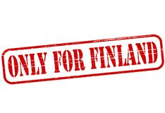 Only for Finland. Rubber stamp with text only for Finland inside,  illustration Stock Image