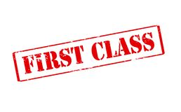 First class. Rubber stamp with text first class inside,  illustration Royalty Free Stock Photography
