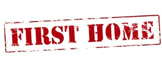 First home. Rubber stamp with text first home inside,  illustration Stock Images