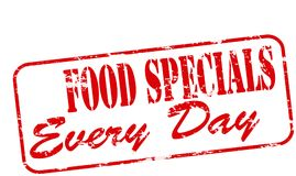 Food specials. Rubber stamp with text food specials inside,  illustration Stock Photos