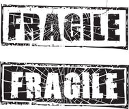 Rubber stamp with the text fragile. Abstract grunge rubber stamp with the text fragile Royalty Free Stock Images