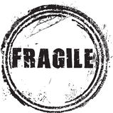 Rubber stamp with the text fragile Royalty Free Stock Image