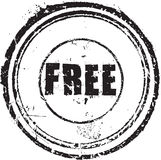 Rubber stamp with the text free royalty free illustration
