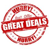Great deals. Rubber stamp with text great deals inside, illustration royalty free illustration