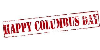 Happy Columbus day. Rubber stamp with text happy Columbus day inside,  illustration Royalty Free Stock Photography