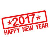 Rubber stamp with text Happy New Year 2017. Rubber stamp label with text Happy New Year 2017 Stock Image