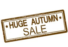 Huge autumn sale. Rubber stamp with text huge autumn sale inside, illustration vector illustration