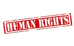 Human rights. Rubber stamp with text human rights inside,  illustration Royalty Free Stock Photography