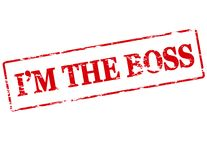 I am the boss. Rubber stamp with text i am the boss inside,  illustration Stock Images