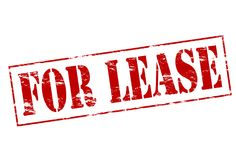 For lease. Rubber stamp with text for lease inside,  illustration Royalty Free Stock Photos