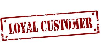 Loyal customer. Rubber stamp with text loyal customer inside,  illustration Stock Image