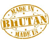 Made in Bhutan. Rubber stamp with text made in Bhutan inside,  illustration Royalty Free Stock Photo
