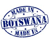Made in Botswana. Rubber stamp with text made in Botswana inside,  illustration Royalty Free Stock Photos