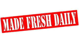 Made fresh daily. Rubber stamp with text made fresh daily inside,  illustration Royalty Free Stock Photography