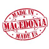 Made in Macedonia. Rubber stamp with text made in Macedonia inside,  illustration Stock Photo