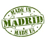 Made in Madrid. Rubber stamp with text made in Madrid inside,  illustration Royalty Free Stock Images