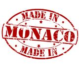 Made in Monaco. Rubber stamp with text made in Monaco inside,  illustration Royalty Free Stock Photos