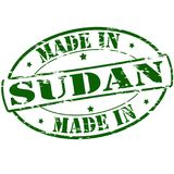 Made in Sudan. Rubber stamp with text made in Sudan inside,  illustration Royalty Free Stock Photography