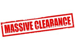 Massive clearance. Rubber stamp with text massive clearance inside,  illustration Stock Photos