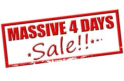 Massive four days sale. Rubber stamp with text massive four days sale  inside,  illustration Stock Photos