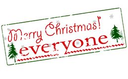 Merry Christmas everyone. Rubber stamp with text Merry Christmas everyone inside,  illustration Royalty Free Stock Photo