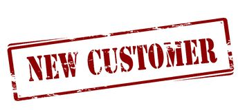 New customer. Rubber stamp with text new customer inside,  illustration Royalty Free Stock Photo