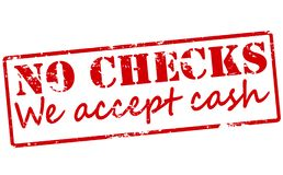 No checks we accept cash. Rubber stamp with text no checks we accept cash inside,  illustration Stock Photos