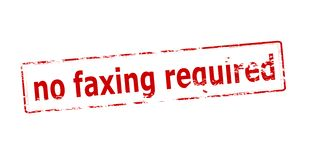 No faxing required. Rubber stamp with text no faxing required inside,  illustration Stock Photos