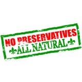 No preservatives. Rubber stamp with text no preservatives inside,  illustration Stock Image