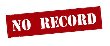 No record. Rubber stamp with text no record inside,  illustration Royalty Free Stock Image