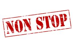 Non stop. Rubber stamp with text non stop inside,  illustration Stock Photos