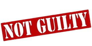 Not guilty. Rubber stamp with text not guilty inside,  illustration Royalty Free Stock Photography