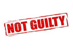 Not guilty. Rubber stamp with text not guilty inside,  illustration Royalty Free Stock Photos