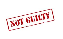 Not guilty. Rubber stamp with text not guilty inside,  illustration Stock Photos