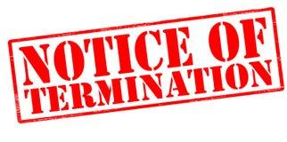 Notice of termination Vector Illustration