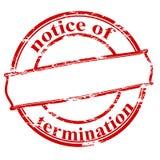 Notice of termination Stock Illustration