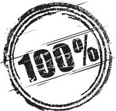 Rubber stamp with the text one hundred percent Stock Photo