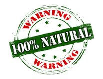 One hundred percent natural Stock Images