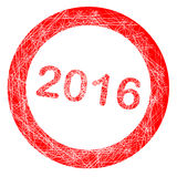 2016 rubber Stamp. A rubber stamp with the text 2016 over a white background with grunge effect Stock Photography
